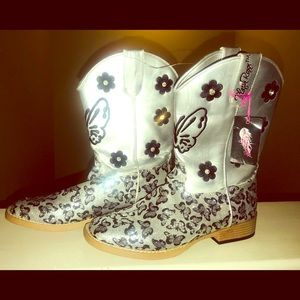 🆕 Blazin Roxx Glitter Cowgirl Boot Size 5.5 Youth
